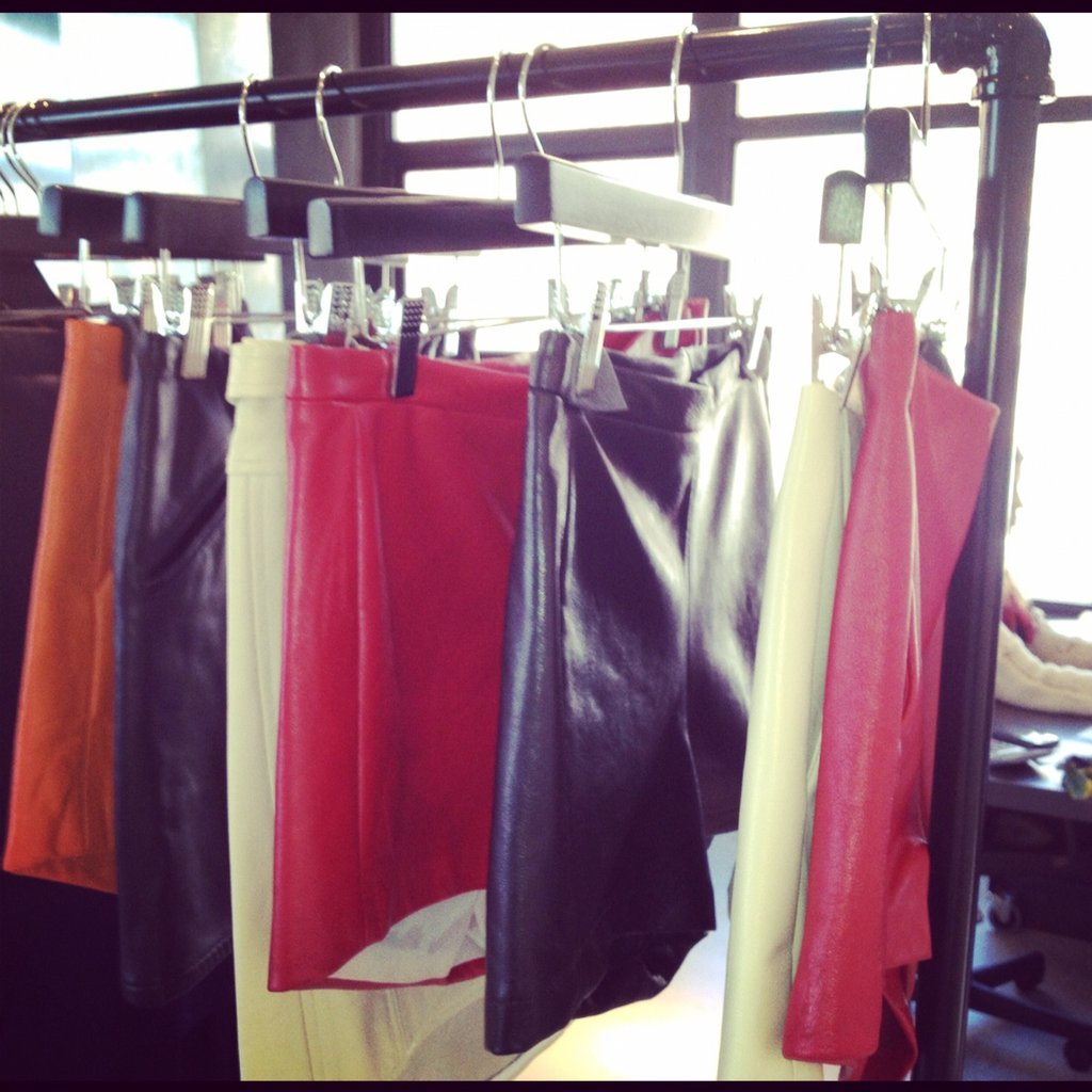 We spied some hot leather at David Lerner's preview.