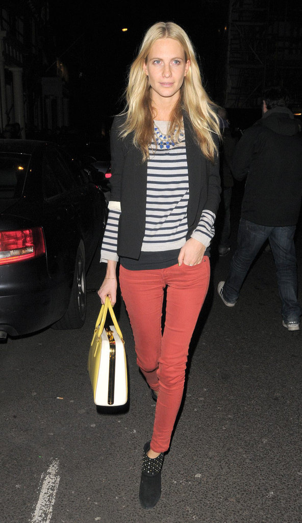 Poppy Delevingne may just have achieved outfit perfection in the easiest chic combination of layers, stripes, and color.