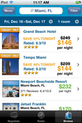 Priceline Hotel & Car Negotiator (free)