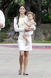 Camila Alves leaves church with Vida.