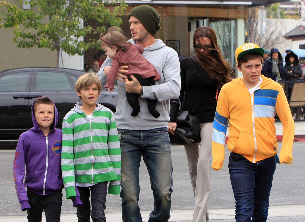 The Whole Beckham Family Does Lunch in LA