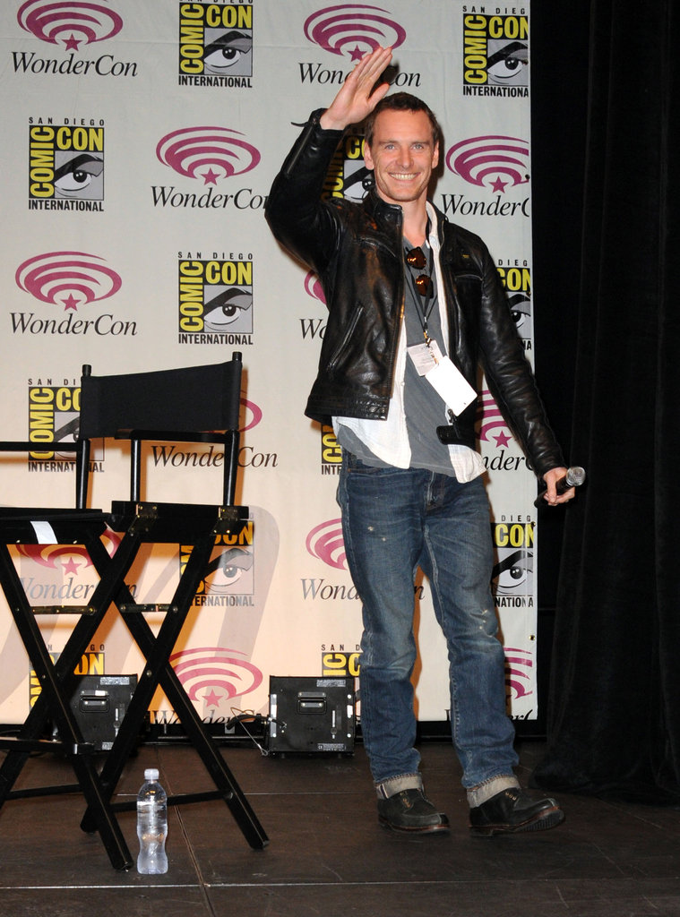 Michael Fassbender at WonderCon.