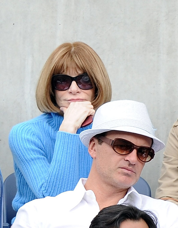 Anna Wintour watched tennis.