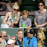 Gwen Stefani Takes in a Tennis Tournament With Kingston, Gavin, and More Stars
