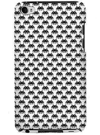 Black and white Space Invaders iPhone case ($42)