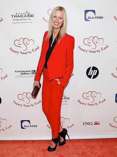 Karolina Kurkova in a Red-Hot Suit