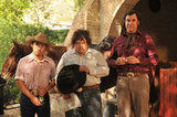 Efren Ramirez, Adrian Martinez, and Will Ferrell in Casa de mi Padre. Photo courtesy of Lionsgate