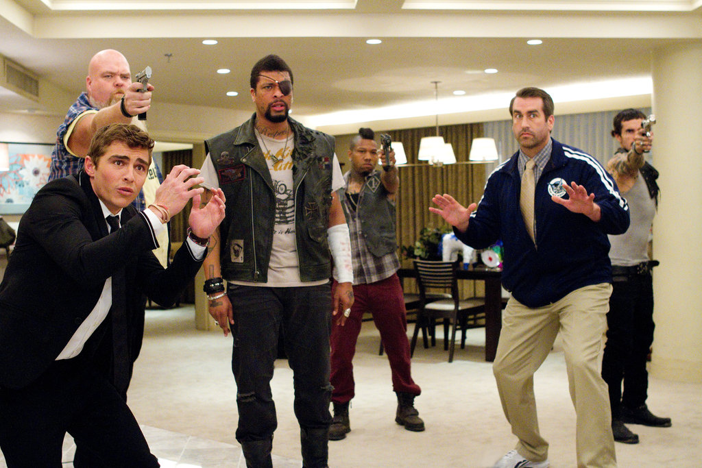 Randal Reeder, Dave Franco, DeRay Davis, Dominic Clarence Alexander, Rob Riggle, and Luis Da Silva in 21 Jump Street. Photo courtesy of Sony Pictures