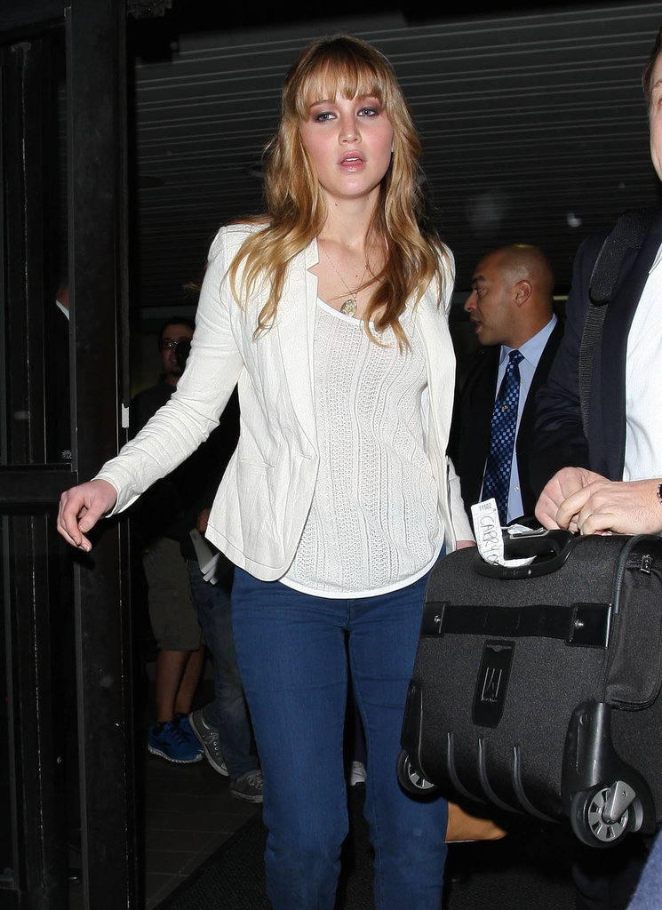 Jennifer Lawrence had some help with her luggage.