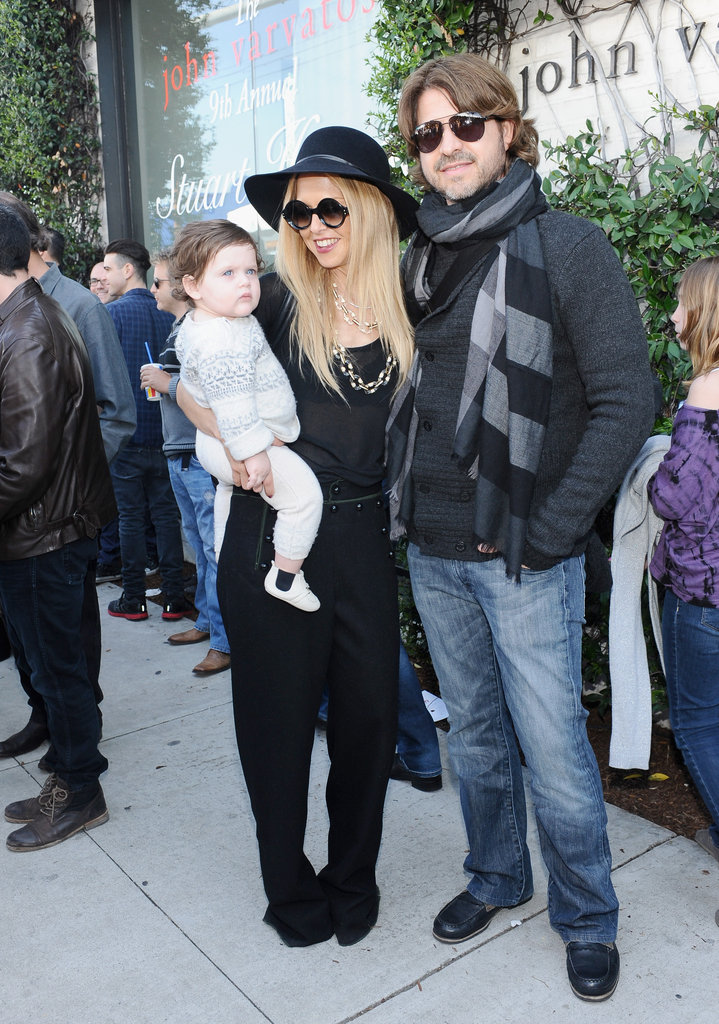 Rachel Zoe, Skyler Berman, Rodger Berman posed together.