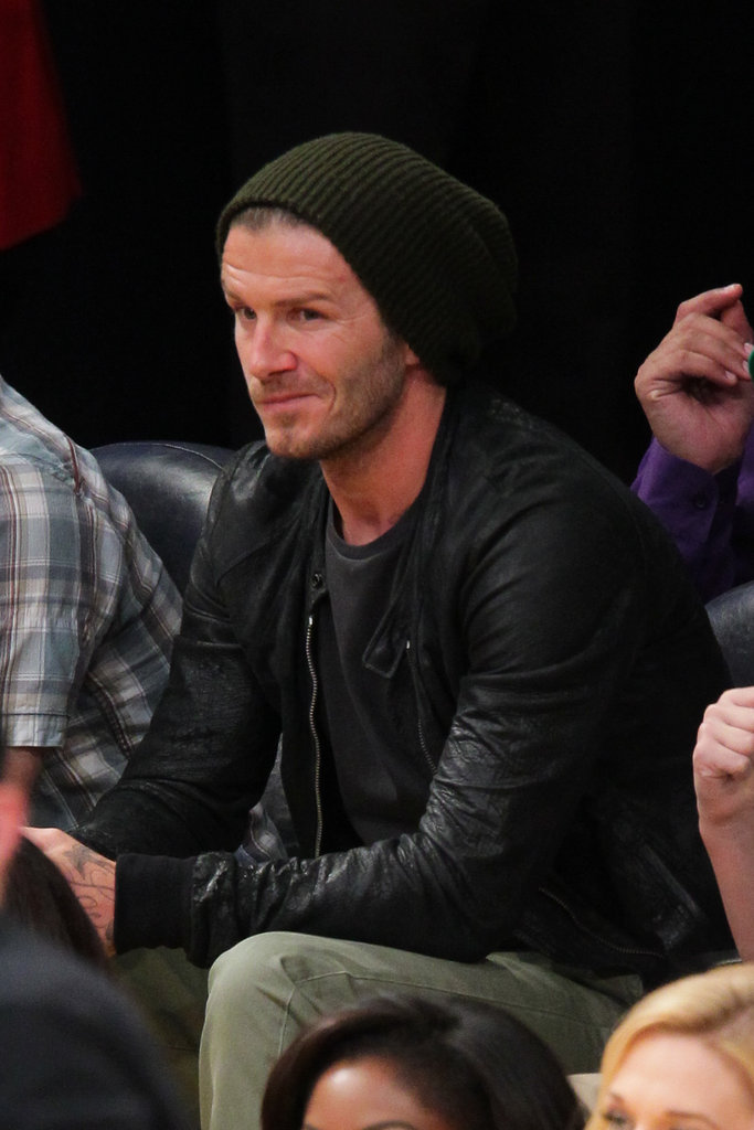 David Beckham watched the Lakers play the Celtics.