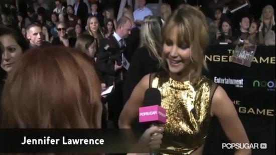 Video: Jennifer Lawrence Talks Her Role Model Status on Hunger Games Red Carpet