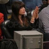Jessica Biel's engagement ring was on display at the Lakers game.