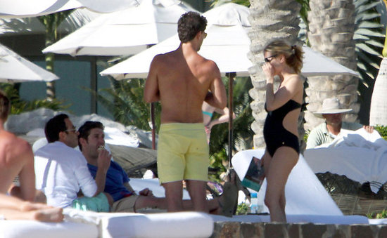 Kristin Cavallari by the pool in Mexico.