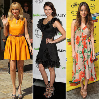 Nina Dobrev Wearing Rachel Zoe Dress 2012