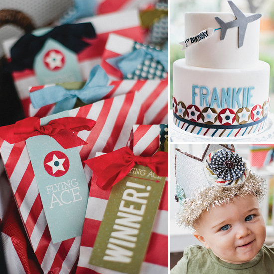 Sky-High Style! Frankie's Vintage Airplane First Birthday Bash
