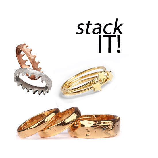 Stackable Ring Sets From Brvtvs Estelle Deve Max Chloe And More