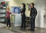 Dreama Walker, James Van Der Beek, and Krysten Ritter in Don't Trust the B---- In Apartment 23. Photos copyright 2012 ABC, Inc.