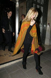 Kate Moss leaving Claridge's hotel in London.