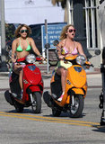 Selena Gomez and Vanessa Hudgens Wear Bikinis For an On-Set Joy Ride