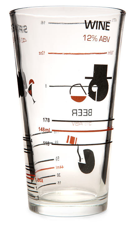 Alcohol by Volume Pint Glass ($8)
