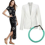 For an effortless yet elegant look, style an animal-print maxi dress with a chic white blazer and beaded necklace.  Michael Michael Kors Printed Maxi Dress ($120), French Connection Cass Blazer ($238), Asos Beaded Necklace ($14)