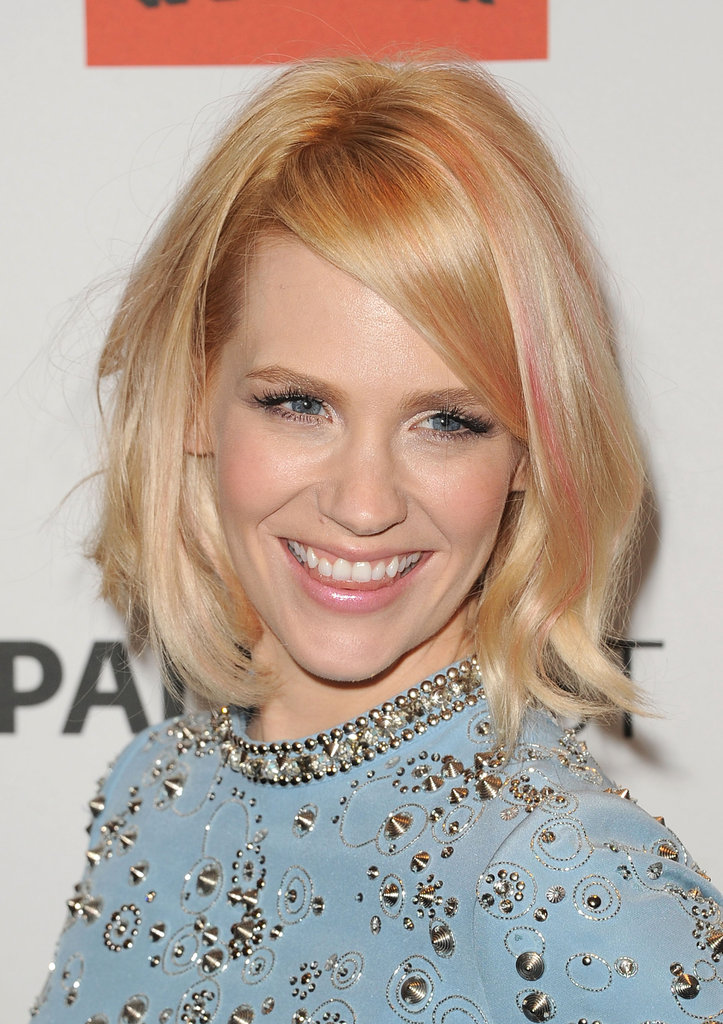 January Jones and her blond hair.