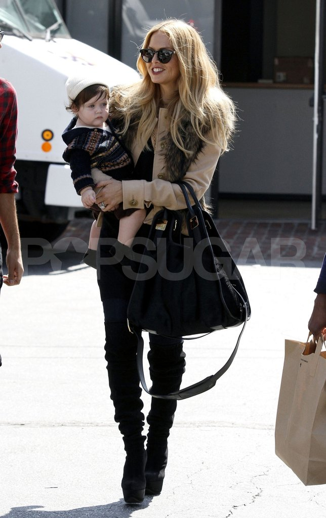Rachel Zoe dressed up in LA with son Skyler Berman.