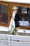 Shiloh Jolie-Pitt traveled with her blankie.