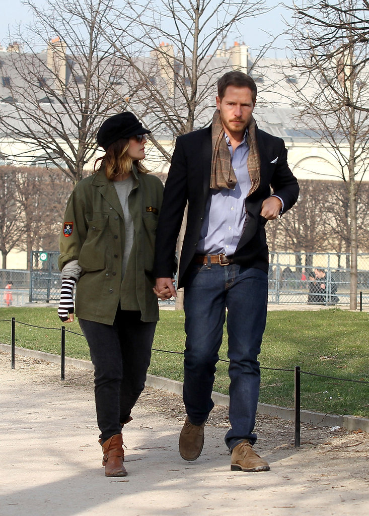 Drew Barrymore and Will Kopelman took a stroll in the Tuileries Garden during a March 2012 trip to Paris.