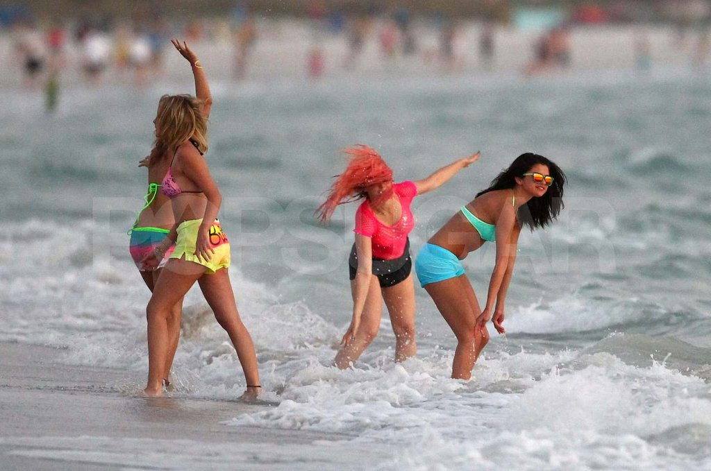 Selena Gomez and Vanessa Hudgens Take Their Bikini Scenes to the Beach