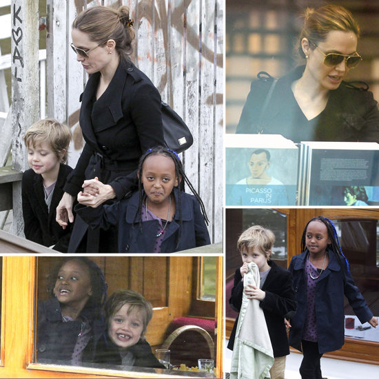 Angelina Jolie Tours Amsterdam by Boat With Shiloh and Zahara