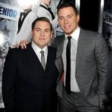 Channing Tatum and Jonah Hill at the 21 Jump Street Premiere