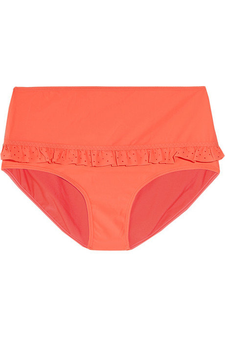 We love the sweet ruffle on the matching bottoms.  Adidas by Stella McCartney Swim Neon Bikini Briefs ($50)