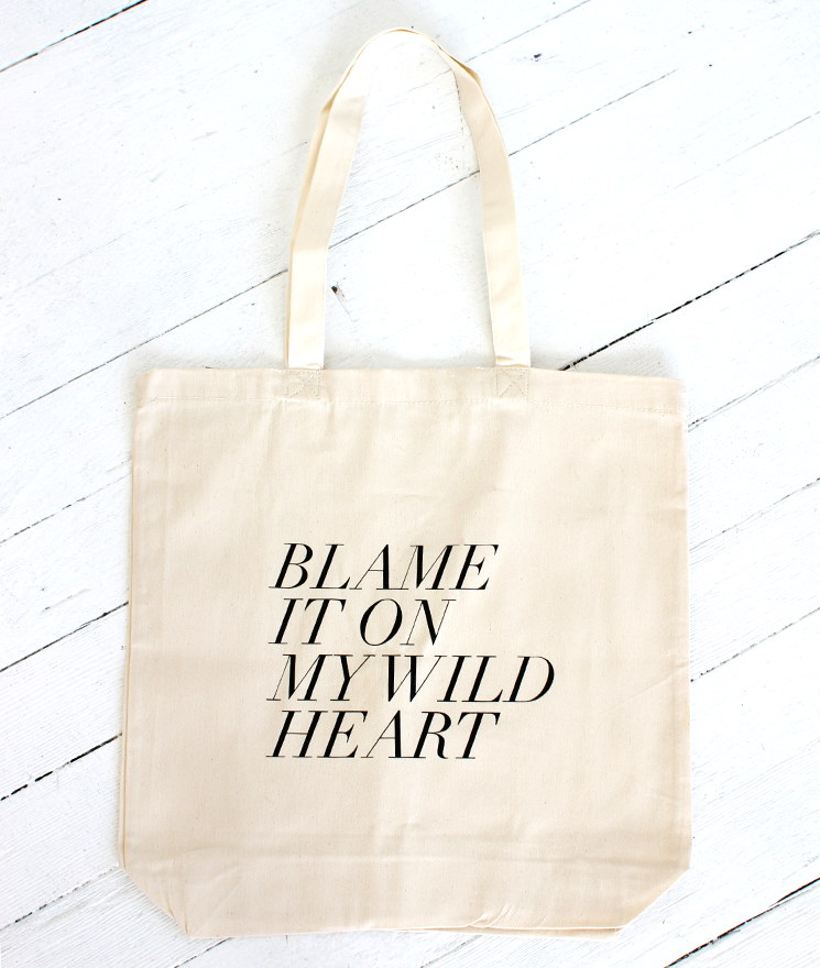 Show your love for Stevie Nicks with this simple, pretty tote.  Fieldguided Wild Heart Tote ($22)