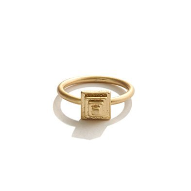 This dainty little ring is perfect for stacking.  Madewell Pyramid Post Ring ($18)
