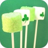 Sparkly Shamrock Marshmallows