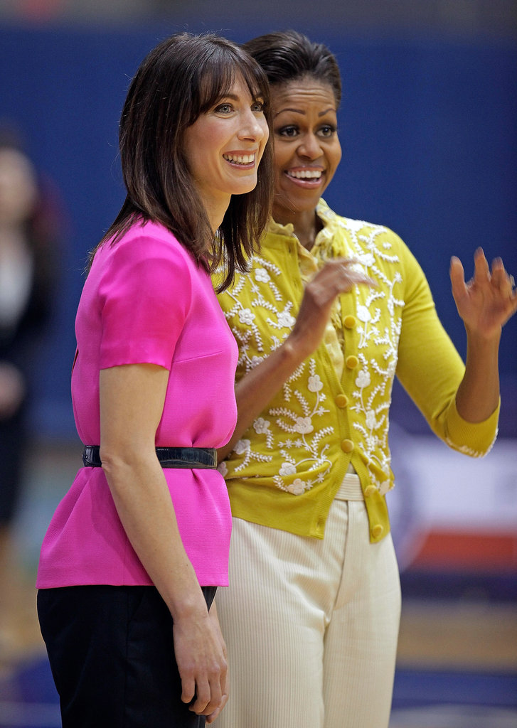 The first ladies have a good time together.