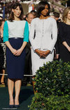 Samantha Cameron and Michelle Obama make a stylish pair.