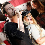 Christina Aguilera Calls Adam Levine Out on His Celebrity Perfume 180
