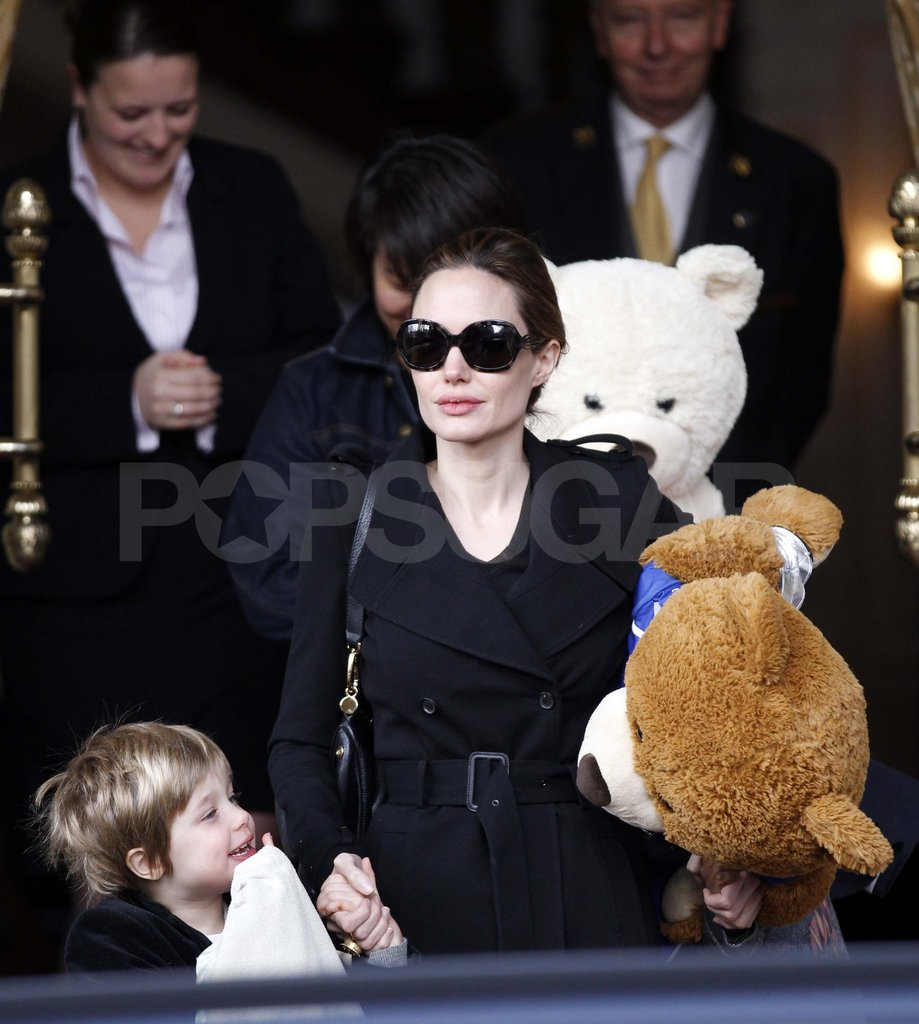 Angelina Jolie in Amsterdam with Shiloh.