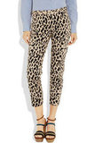 Let these leopard print pants do all the talking and just finish the look with a denim top or silky black tank top.  Tibi Printed Sateen Cropped Pants ($290)