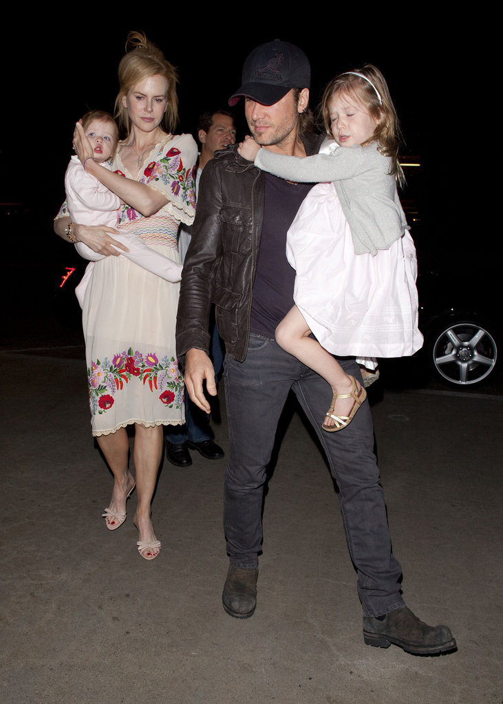 Nicole Kidman and Keith Urban Fly From LA to Sydney With Their Girls