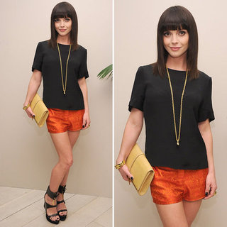 Christina Ricci Orange Shorts