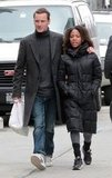 Michael Fassbender and Nicole Beharie in SoHo, NYC.