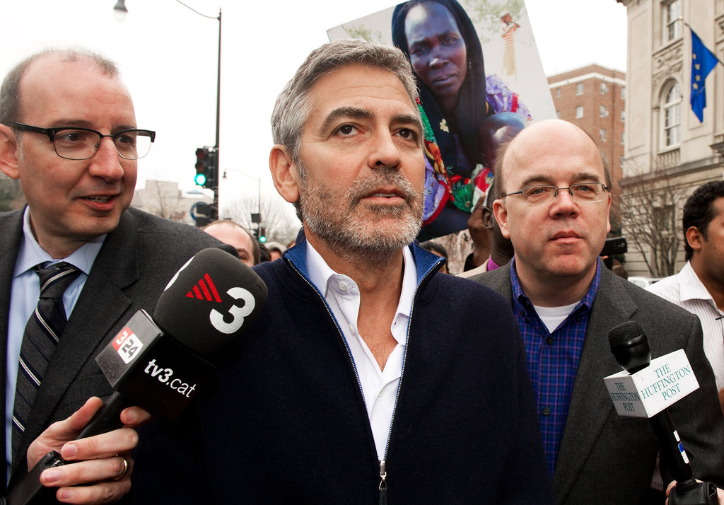 George Clooney was at a protest.