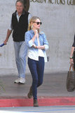 Kate Bosworth did denim-on-denim like a pro.