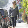 Pregnant Celebrity Walking Her Dog Picture