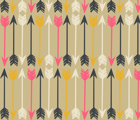 Arrows on Tan  fabric by papersparrow on Spoonflower - custom fabric