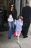 Katie and Suri Cruise Explore NYC While Tom Preps For Oblivion